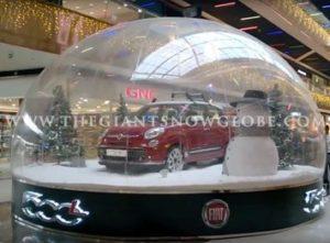 Snow Globe Fiat Car