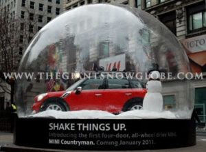 Giant Snow Globe Mini Cars