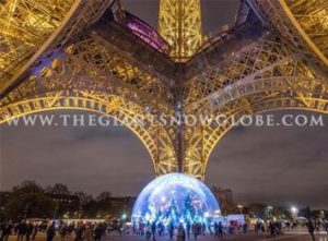 Giant Snow Globe Paris