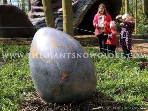 Dinosaur Eggs Grey Orange