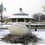 Giant Egg Zoo Exhibit