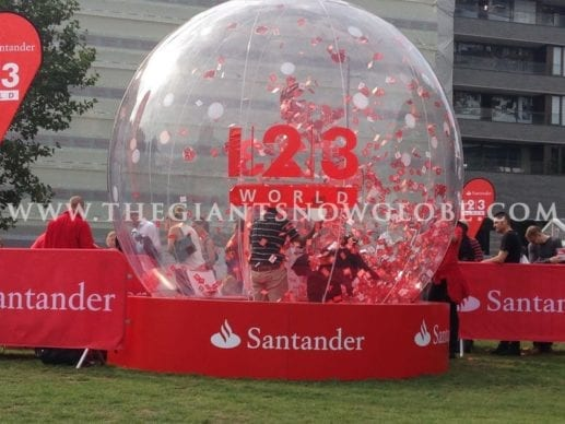 Santander Branded Inflatable Cash Grabber