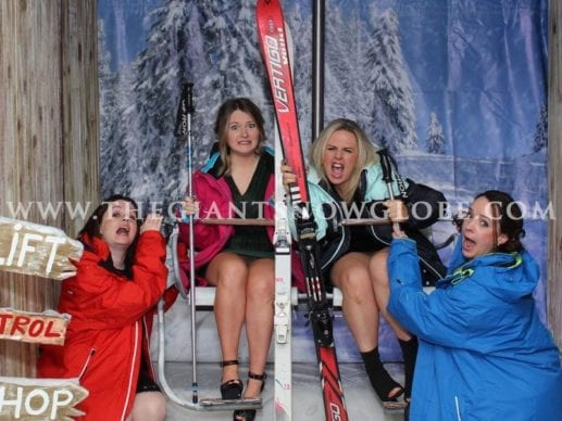 Wooden Ski Lift Photo Booth