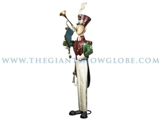 Tall Metal Soldier With Bugle