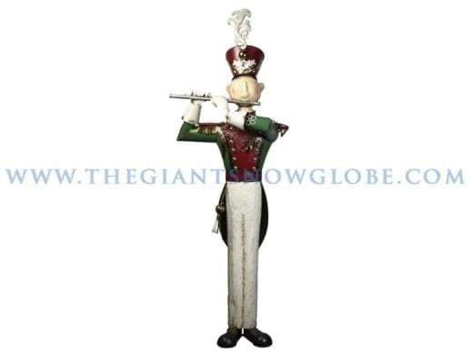 Tall Metal Soldier With Flute
